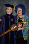 Dr. Carla S. Honselman, Commencement marshal, Ms. Martha S. Brown, Volunteer