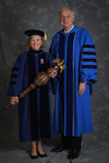 Dr. Carla S. Honselman, Commencement marshal, Dr. William L. Perry, President
