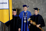 Dr. Leo P. Comerford, Faculty marshal, President William Perry,  Dr. Peter G. Andrews, Commencement marshall