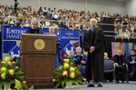Dr. Blair M. Lord, Provost and Vice President for Academic Affairs, Mr. Robert E. Holmes Jr., Honorary degree recipient