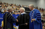 Dr. Blair M. Lord, Provost and Vice President for Academic Affairs, Mr. Robert E. Holmes Jr., Honorary degree recipient, Dr. William L. Perry, President