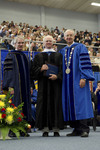Dr. Blair M. Lord, Provost and Vice President for Academic Affairs, Mr. Robert E. Holmes Jr., Honorary degree recipient, Dr. William L. Perry, President by Beverly J. Cruse