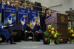 Dr. Godson C. Obia, Dr. Andrew S. Methven, Chairperson of Faculty Senate, Dr. Nancy L. Elwess, charge to the class