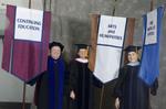 Dr. Richard E. Cavanaugh, Faculty marshal, Dr. Mary Caroline Simpson, Faculty marshal, Dr. Patricia K. Belleville, Faculty marshal