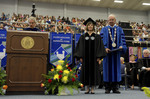 Dr. Blair M. Lord, Provost and Vice President for Academic Affairs, Mrs. Julie Nimmons, Honorary Degree Recipient, Dr. William L. Perry, President