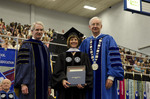 Dr. Blair M. Lord, Provost and Vice President for Academic Affairs, Mrs. Julie Nimmons, Honorary Degree Recipient, Dr. William L. Perry, President by Beverly J. Cruse