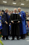Dr. Blair M. Lord, Provost and Vice President for Academic Affairs, Mr. Robert Corn-Revere, Honorary Degree Recipient, Dr. William L. Perry, President