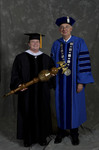 Dr. Phyllis T. Croisant, Commencement Marshal, Dr. William L. Perry, President