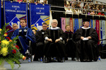 Dr. Andrew S. Methven, Chairperson of Faculty Senate, Mr. Joseph R. Dively, Board of Trustees, Mr. Edward M. Hotwagner, Student Body President, Mr. Robert Corn-Revere, Charge to the Class, Dr. Robert M Augustine, Dean of the Graduate School, Dr. Phyllis T. Croisant, Commencement Marshal