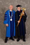 Dr. William L. Perry, President,  Dr. John Best, Commencement Marshall