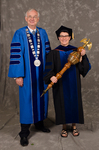 Dr. William L. Perry, President, Dr. Jeannie Ludlow, Commencement Marshall