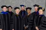 Dr. Richard L. Roberts, Commencement Marshall, Dr. Douglas J Bower,Associate Dean, College of Education & Professional Studies, Dr. Diane H. Jackman,Dean, College of Education & Professional Studies,  Dr. Blair M. Lord, Dr. Gwendolyn J. Dungy, Dr. Daniel P. Nadler, Vice President for Student Affairs, Dr. Robert M. Augustine, Dean of the Graduate School