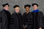 Dr. Douglas J Bower, Dr. Diane H. Jackman, Dr. Gwendolyn J. Dungy, Dr. Richard L. Roberts, Commencement Marshall by Beverly J. Cruse
