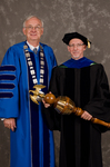 Dr. William L. Perry, President, Dr. Richard L. Roberts, Commencement Marshall