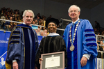 Dr. Blair M. Lord, Provost & Vice President for Academic Affairs, Dr. Gwendolyn J. Dungy, Honorary Degree Recipient, Dr. William L. Perry,  President
