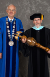 Dr. William L. Perry,  President, Dr. Thomas R. Hawkins, Commencement Marshall
