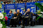 Mr. Joesph R. Dively, Board of Trustee, Dr. Andrew S. Methven, Chairperson of Faculty Senate, Dr. Gordon L. Grado, Honorary Degree Recipient & Charge to Class, Dr. John Best, Commencement Marshall