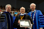 Dr. Blair M. Lord, Provost & Vice President for Academic Affairs, Dr. Gordon L. Grado, Honorary Degree Recipient, Dr. William L. Perry, President, by Beverly J. Cruse