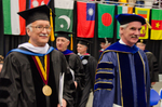 Dr. Gordon L. Grado, Honorary Degree Recipient, Dr. Blair M. Lord, Provost & Vice President for Academic Affairs by Beverly J. Cruse