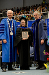 Dr. William L. Perry, President, Dr. Melanie B. Mills, Distinguished Faculty Award, Dr. Blair M. Lord, Provost & Vice President of Academic Affairs