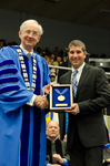 Dr. William L. Perry, President, Mr. Mitchell Gurick, Livingston Lord Scholar Recipient