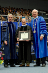 Dr. Blair M. Lord, Provost & Vice President for Academic Affairs, Mr. Don L. Gher, Honorary Degree Recipient, Dr. William L. Perry, President by Beverly J. Cruse