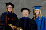 Dr. Angela Anthony, Student Speaker Mentor, Dr. Gail Richard, Commencement Marshal, Ms. Brittany Hart, Student Speaker by Beverly J. Cruse