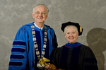 Dr. William L. Perry, President, Dr. Gail Richard, Commencement Marshal