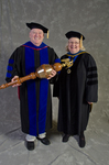 Dr. Richard Cavanaugh, Commencement Marshal, Dr. Diane Jackman, Dean, College of Education and Professional Studies