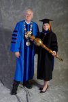 Dr. William L. Perry, President, Dr. Lisa Brooks, Commencement Marshal