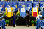 Dr. Robert Colombo, Faculty Marshal, Dr. Gopal Periyannan, Faculty Marshal, Jennifer Antkowiak, Honors College Banner Marshal