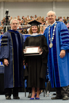 Dr. Blair M. Lord, Provost & Vice President for Acdemic Affairs, Ms. Barbara A. Baurer, Honorary Degree Recipient and Commencement Speaker, Dr. William L. Perry, University President by Beverly J. Cruse