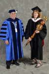 Dr. David Glassman  & Dr. Kathryn Bulver, Commencement Marshal