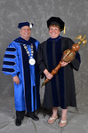 Dr. David Glassman & Dr. Melanie Burns, Commencement Marshal & Students by Beverly J. Cruse