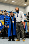 Dr. David Glassman, University President, Cole Hoover, Lord Scholar by Beverly Cruse