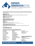 Corporate Communication curriculum by Communication Studies