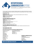 Interpersonal Communication curriculum by Communication Studies