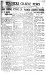 Daily Eastern News: October 18, 1921 by Eastern Illinois University
