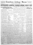 Daily Eastern News: November 18, 1929 by Eastern Illinois University