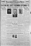 Daily Eastern News: September 01, 1938 by Eastern Illinois University
