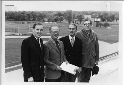 Dr. Earl Boyd (second from left) with colleagues