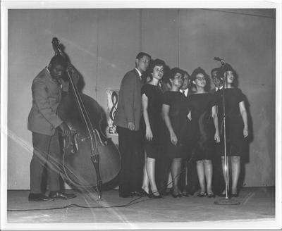 Vocalists with Cello Player at Marine Base Gitmo