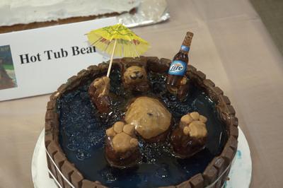Children's Book Theme: Hot Tub Bear (detail)