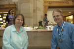 Show Pic: Dean's Choice Silver Medalists Bob Hillman & Marlene Slough by Booth Library