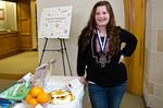 "Show Award Winners: Katie Jenkins, winner of the Best in Show Student Entry for ""A Clockwork Orange"" by Beth Heldebrandt"