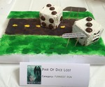 "Best in Show Funniest Pun Honorable Mention, ""Pair of Dice Lost"""