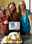 """Georgia and Carol Ryan, winners of the Dean's Choice Silver for """"Hansel and Gretel"""" by Bev Cruse"""