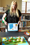 """Lana Hill, winner of the Children's Book Best in Show entry for """"Ten Little Sisters"""" by Bev Cruse"""