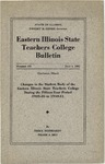 Bulletin 159 - Changes in the Student Body of the Eastern Illinois State Teachers College During the Fifteen Year Period 1925-26 to 1940-41