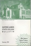 Bulletin 194 - Master Degree Program Announcements, Summer 1951 by Eastern Illinois University